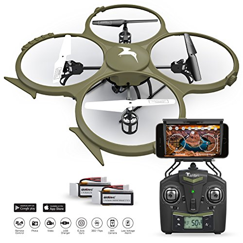 Kolibri-U818A-Wi-Fi-Discovery-Delta-Recon-Quadcopter-Drone-Tactical-Edition-with-720p-HD-Camera-Military-Matte-Drab-Green