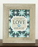 """All You Need Is Love and A Cat Kitten Gift Home Picture Sign Decor Framed Art 13x16"""""""