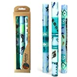 Set Of Three Boxed Tall Hand-Painted Candles - Samaki Design