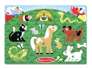 Melissa & Doug Neighborhood Pets Peg Puzzle