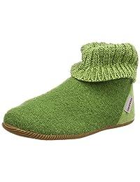 Giesswein Boiled Wool Kids Green Slippers Wildpoldsried