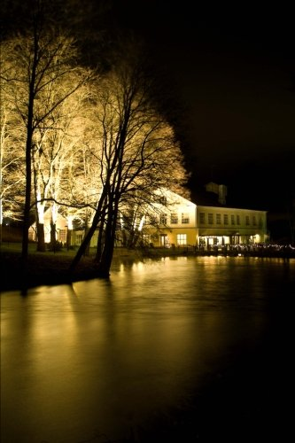 fiskars-village-at-night-in-finland-journal-150-page-lined-notebook-diary