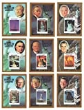 Set of nine imperforate Statue of Liberty stamp sheets of American US presidents with Ronald Reagan, Gerald Ford and Richard Nixon / 1986 / Grenadines of St.Vincent / MNH