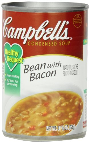 Campbell's Healthy Request Condensed Soup, Bean with Bacon, 11.5 Ounce (Pack of 12)