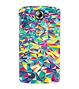 PrintVisa Modern Art Colorful Pattern 3D Hard Polycarbonate Designer Back Case Cover for Lenovo S820