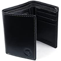 Timberland Mens Trifold Wallet Dressy Semi Gloss Geniune Boot Leather 9 ID Cards