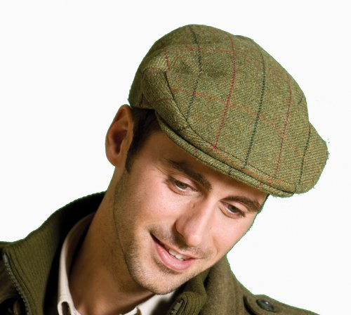 Traditional Mens Ladies Wool Tweed Check Country Classic Style Flat Cap WC304 Hat