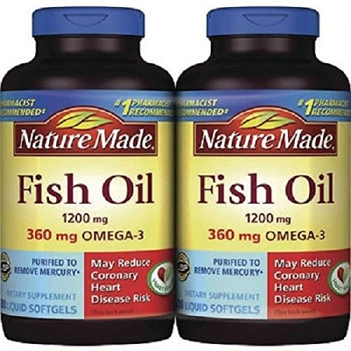 2 x 200Pk Nature Made Fish Oil 1200 mg Softgels Omega 3 (Nature Made Ultra Fish Oil compare prices)