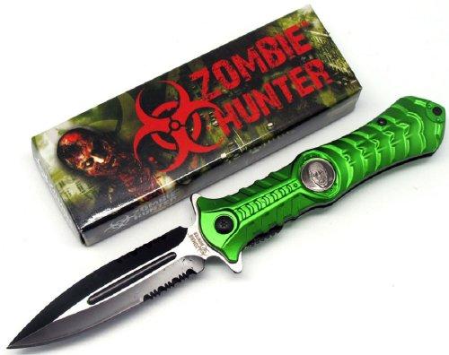 "Zombie Hunter ""Haunt"" A0 Tactical Folding Knife - Green"