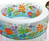 Kinderpool-Aquarium-Ring-Pool-Drei-Ringe-152cm-mal-56cm-Badespa-fr-zu-Haus