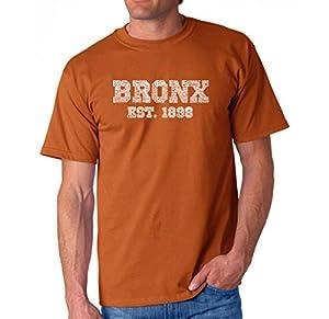 LA Pop Art - Men's T-shirt - Popular Neighborhoods in The Bronx New York - Word Art - Texas Orange - XX-Large
