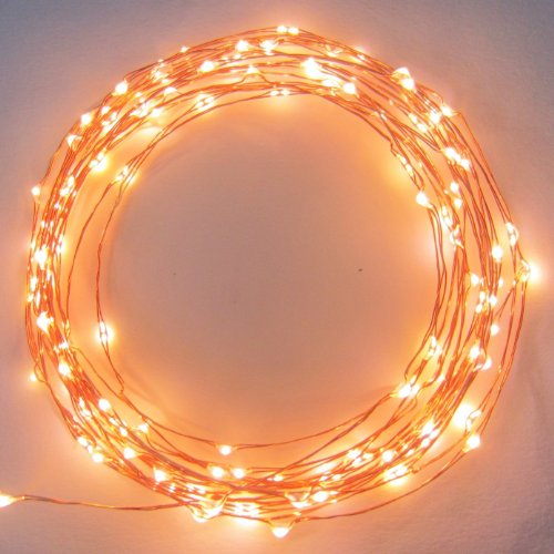 The Original Even Warmer Starry String Lights™ By Brightech - Golden Warm White Color Led'S On A Flexible Copper Wire - 20Ft Led String Light With 120 Individually Mounted Led'S. Set The Mood You Want Anywhere! - Perfect For Creating Instant Appeal In Any