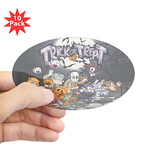 Sticker Clear (Oval) (10 Pack) Halloween Trick or Treat Costumes (Werewolf Outfits Halloween)