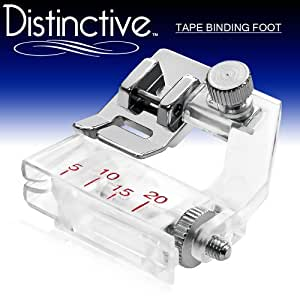Distinctive Tape Binding Sewing Machine Presser Foot - Fits All Low Shank Snap-On Singer*, Brother, Babylock, Euro-Pro, Janome, Kenmore, White, Juki, New Home, Simplicity, Elna and More!