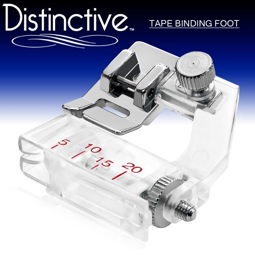 Find Bargain Distinctive Tape Binding Sewing Machine Presser Foot - Fits All Low Shank Snap-On Singe...