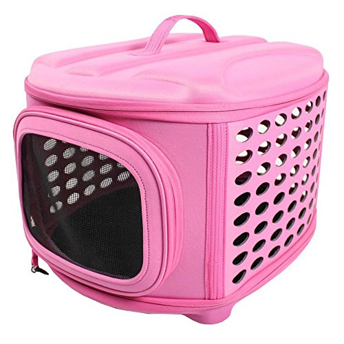 iconic-pet-deluxe-retreat-foldable-pet-house-pink