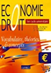 Economie Droit 1er cycle universitair...
