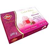 (10,47 Euro/1Kg) Turkish Delight-Türkischer Honig Lokum-Rosengeschmack-Rosen-400g