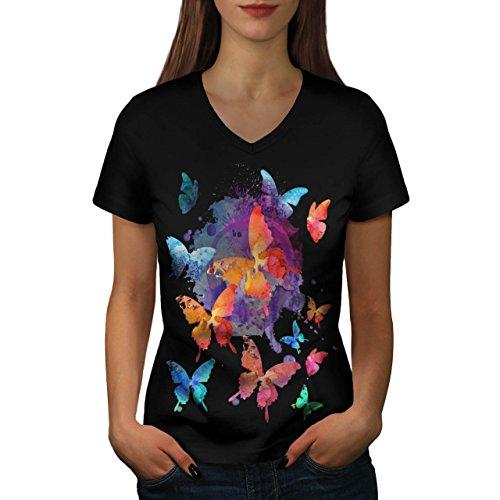 beaute-papillon-la-nature-aile-femme-nouveau-noir-l-t-shirt-wellcoda