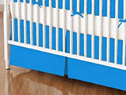 SheetWorld - MINI Crib Skirt (24 x 39) - Turquoise Jersey Knit - Made In USA