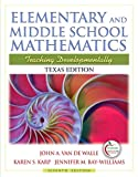 Texas Edition of Elementary and Middle School Mathematics (7th Edition)