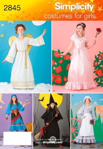 Simplicity Sewing Pattern 2845 Child and Girl Costumes,