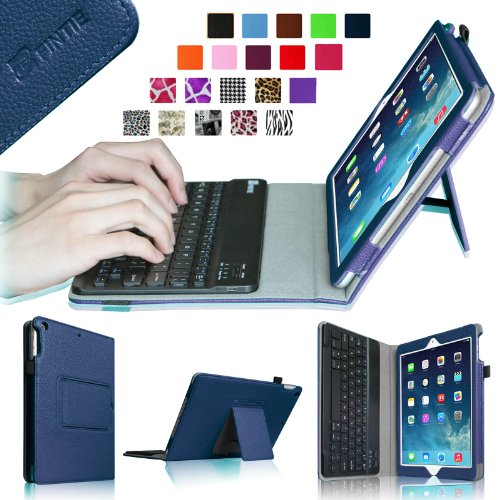 Fintie Ipad Air Keyboard Case - Ultra Thin Folio Key Removable Bluetooth Keyboard Case Cover For Ipad Air 5 (5Th Generation) - Navy