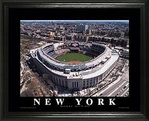 New York Yankees - New Yankee Stadium Aerial - Lg - Framed Poster Print by Laminated Visuals