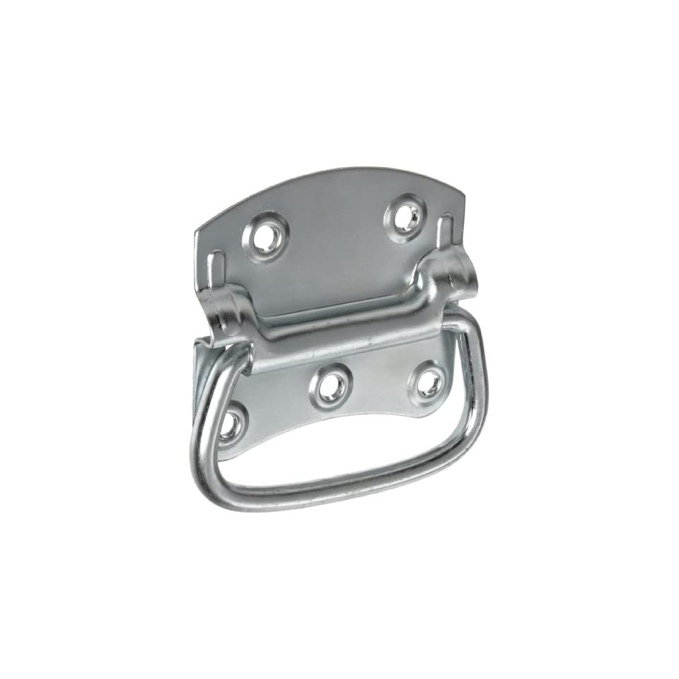 6 Mounting Hole Center to Center Dull Finish Pack of 1 Folding Style with Mounting Plates Monroe  Stainless Steel 304 Load Rated Pull Handle