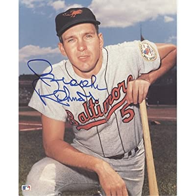 Brooks Robinson Autographed Baltimore Orioles (Pose with Bat) 8x10 Photo