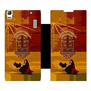 Phone Candy Designer Flip Cover with hi-res printed Vinyl sticker wrap-around for Lenovo A7000