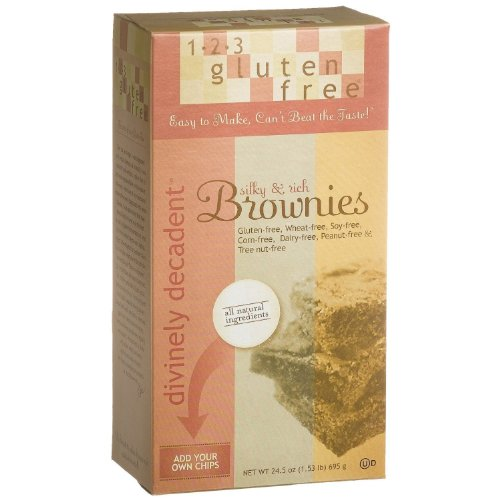 123 Gluten Free Divinely Decadent Brownie Mix, 24.5-Ounce Boxes(PACK OF 2)