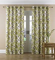 Simple Leaf Eyelet Curtains