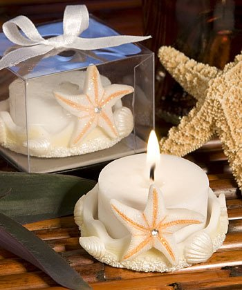 Set of 100 Starfish Candle Beach Theme Wedding Favors Free Shipping