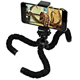 Zhicity Octopus Lightweight Camera Tripod Mount Portable Stander Flexible Cell Phone Tripod Adapter iPhone Holder Compact Sturdy Grip Gorilla Black