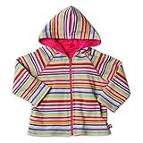 Zutano Little Girls' Super Stripe Reversible Zip Hoodie