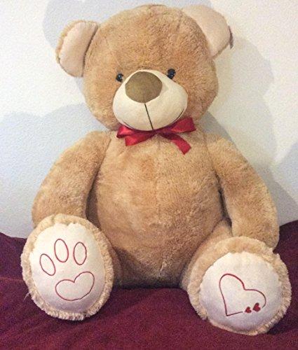 XXL 135cm Kuschelbär Riesen Teddybär Stofftier