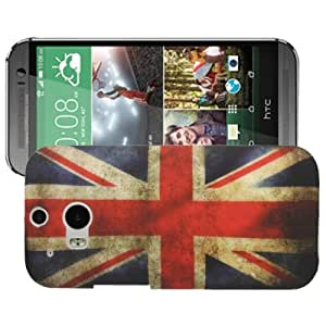 UK Flag Pattern Plastic Case for HTC One / M8