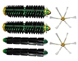 SHP-ZONE 2 6-armed Side Brush & 2 Bristle Brush & 2 Flexible Beater Brush kit for iRobot Roomba 500 Series 510, 530, 535, 540, 550, 560, 570, 580, 610 Vacuum Cleaning Robots