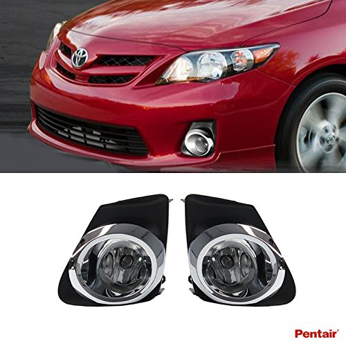 Pentair 2pcs Aftermarket JDM Clear Lens Fog Lights Kit With Light Bulbs+Cover+Switch+Wiring Harness+Relay+Bracket & Necessary Mounting Hardware For 2011-2013 Toyota Corolla (Relay Mounting Bracket compare prices)