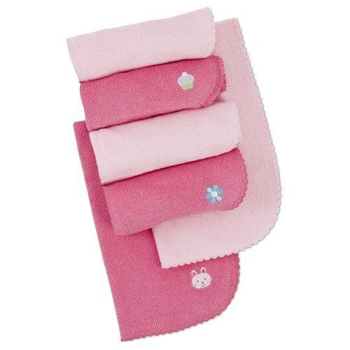 Gerber Terry Burp Cloth - Solid Pink - 6 Pack front-21679