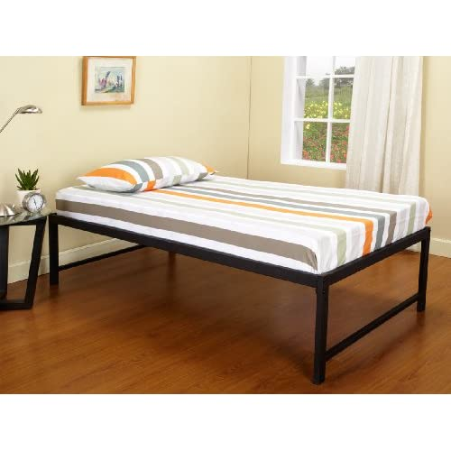 Black Metal Hi Riser Twin Size Day Bed Daybed Frame Innerspring