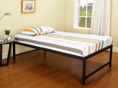 "Cheap Best Price Mattress 13"" Euro Box Top Spring Mattress And Bed Frame Set - Queen By Best Price Mattress Online"