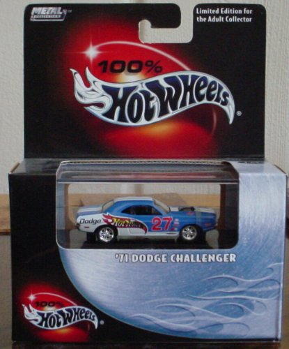 Hot Wheels 100% '71 Dodge Challenger #24 2003 1:64 Scale Collectible Die Cast Car