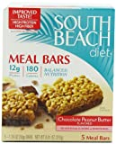 South Beach Diet Meal Bar, Chocolate  Peanut Butter, 5-Count (Pack of 8)