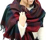 (ジーンズショップ マルカワ) Jeans shop MARUKAWA マフラー 大判 メンズ チェック ストール ユニセックス 男女兼用 冬 8color Free 柄A