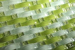 3D WAVE Sea Waves Glass Mosaic Tiles For Kitchen Bathroom Backsplash, Shower Walls