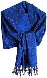 Lauren Ralph Lauren Lauren Ralph Lauren Signature Belting Oversized Pashmina Wrap Scarf Blue