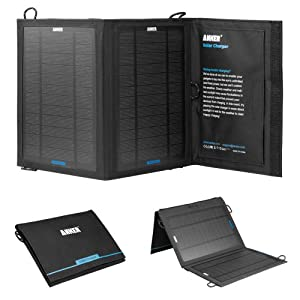 Anker® 8W Single-Port Portable Foldable Outdoor Solar Charger with PowerIQ™ Technology by Anker