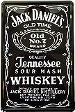 ジャックダニエル Jack Daniel's ブリキ看板 【20cm×30cm】 アメリカン インテリア雑貨